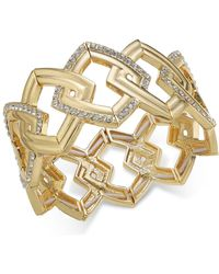 INC International Concepts - I.n.c. Gold-tone Pavé Link Stretch Bracelet, Created For Macy's - Lyst