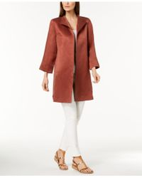 Eileen Fisher - Silk-linen Coat - Lyst
