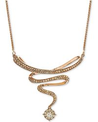 "Macy's - Diamond Swirl 17"" Statement Necklace (3/4 Ct. T.w.) In 14k Rose Gold - Lyst"