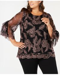 086e8913134 Alfani - Plus Size Embroidered Statement-sleeve Top