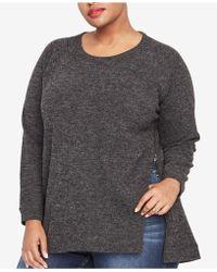 222b15abcb924 Lyst - RACHEL Rachel Roy Womens Plus V-neck Cold Shoulder Pullover ...