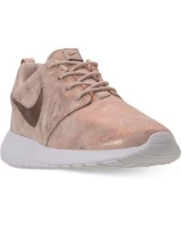 c94dfba8fcd0a Lyst - Nike Women s Roshe One Premium Suede Casual Sneakers From ...