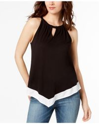 INC International Concepts - Colorblocked Halter Top - Lyst