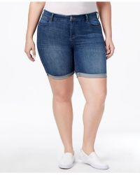 Celebrity Pink - Trendy Plus Size Denim Bermuda Shorts - Lyst
