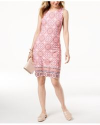 Charter Club - Print Shift Dress, Created For Macy's - Lyst