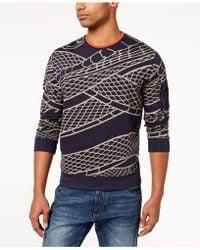 Sean John - Flight Snake-print Sweater, Created For Macy's - Lyst