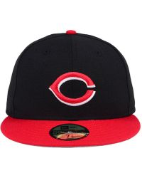 new style a737e bdc5a KTZ Cincinnati Reds Tbtc 59fifty-fitted Cap in Blue for Men - Lyst