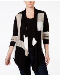 INC International Concepts | Plus Size Colorblocked Multi-stitch Cardigan | Lyst