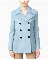 Calvin Klein - Wool-cashmere Double-breasted Peacoat, Created For Macy's - Lyst