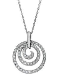 Macy's - Diamond Swirl Pendant Necklace In Sterling Silver (1/6 Ct. T.w.) - Lyst