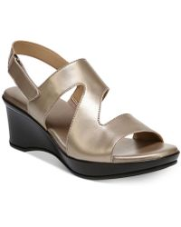 Naturalizer - Valerie Wedge Sandals - Lyst