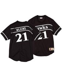 06ea5a3ddb1 Mitchell & Ness - Dominique Wilkins Atlanta Hawks Black & White Mesh Name  And Number Crew