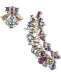 Marchesa - Gold-tone Crystal Stud & Climber Mismatch Earrings - Lyst