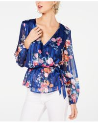 d3f482848533ec INC International Concepts - I.n.c. Floral-print Wrap Top, Created For  Macy's - Lyst