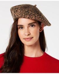 INC International Concepts - I.n.c. Leopard-print Wool Beret, Created For Macy's - Lyst