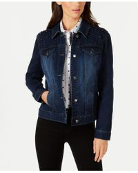 Charter Club - Embellished Denim Jacket, Created For Macy's - Lyst