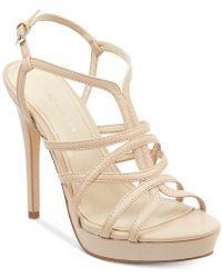 Marc Fisher - Jaslyn Caged Platform Dress Sandals - Lyst