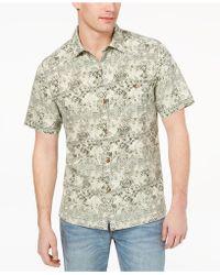 Tommy Bahama - Tropical Geo-print Silk Shirt, Created For Macy's - Lyst