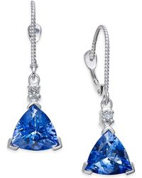 Macy's - Tanzanite (4-1/3 Ct. T.w.) And Diamond Accent Drop Earrings In 14k White Gold - Lyst