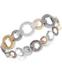 Nine West - Textured Link Stretch Bracelet - Lyst