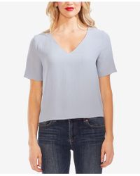 Vince Camuto - V-neck Textured Top - Lyst