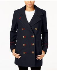 BCBGeneration - Double-breasted Peacoat - Lyst