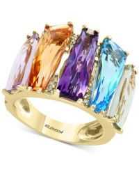 Effy Collection - Mosaic By Effy® Multi-gemstone (10-1/4 Ct. T.w.) & Diamond Accent Statement Ring In 14k Gold - Lyst