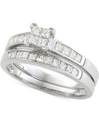 Macy's - Diamond Princess Bridal Set (3/4 Ct. T.w.) In 14k White Gold - Lyst