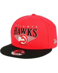 super popular 1f17d 5fb82 KTZ Atlanta Hawks Enamel Script 9fifty Snapback Cap in Black for Men - Lyst
