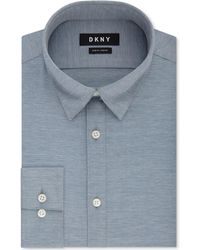 DKNY - Slim-fit Performance Active Stretch Streak Solid Dress Shirt, Created For Macy's - Lyst
