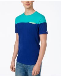 Tommy Hilfiger - Men's Talon Colorblocked Cotton T-shirt - Lyst