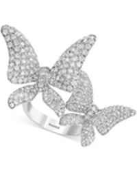 1c76dc837 Gucci Sterling Silver Trademark Butterfly Ring - Size 7.25 in Metallic -  Lyst