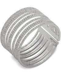 Anne Klein - Pavé Multi-row Cuff Bracelet - Lyst