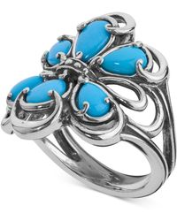 Carolyn Pollack - Turquoise Statement Ring (2-1/5 Ct. T.w.) In Sterling Silver - Lyst