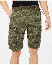 "American Rag - Leaf Print 10"" Cargo Shorts, Created For Macy's - Lyst"