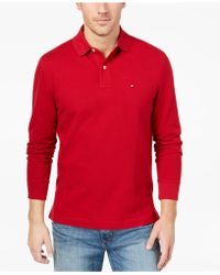 6ae52a04 Tommy Hilfiger - Classic Fit Long Sleeve Polo Shirt, Created For Macy's -  Lyst
