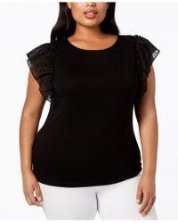 Anne Klein - Plus Size Flutter-sleeve Top - Lyst
