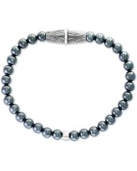 Effy Collection - Hematite Bead Bracelet In Sterling Silver - Lyst
