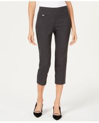 Alfani - Petite Tummy-control Pull-on Capri Pants, Created For Macy's - Lyst