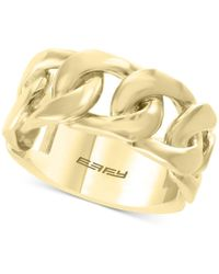 Effy Collection - Chain Link Ring In 14k Gold-plated Sterling Silver - Lyst
