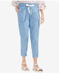 Vince Camuto - Pull-on Chambray Trousers - Lyst
