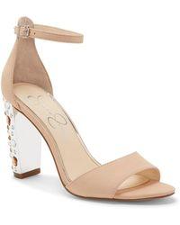 Jessica Simpson - Verena Studded Heel Dress Sandals - Lyst