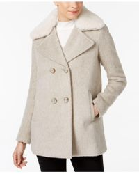 INC International Concepts - Faux-fur-trim Walker Coat - Lyst