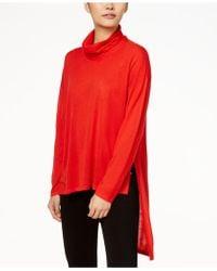 Eileen Fisher - Cowl-neck Wool Sweater - Lyst