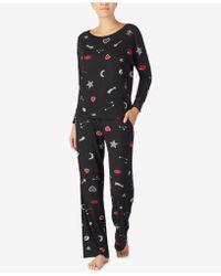 Betsey Johnson - Velvet-trimmed Printed Pyjama Set - Lyst
