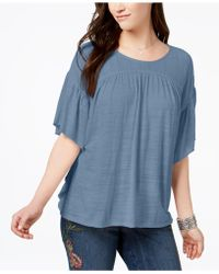 Style & Co.   Flutter-sleeve Poncho Top   Lyst