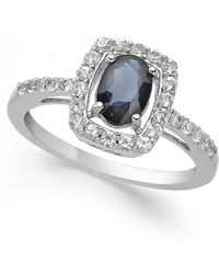 Macy's - Sapphire (1-3/8 Ct. T.w.) And White Sapphire (1/2 Ct. T.w.) Ring In Sterling Silver - Lyst
