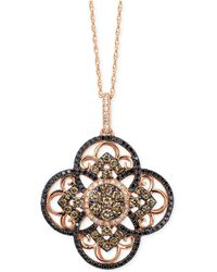 Le Vian - Diamond Clover Pendant Necklace In 14k Rose Gold (7/8 Ct. T.w.) - Lyst