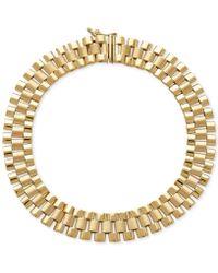 Macy's - Men's Wide Link (9-1/2mm) Bracelet In 14k Gold - Lyst