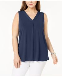 Alfani - Plus Size V-neck Top, Created For Macy's - Lyst